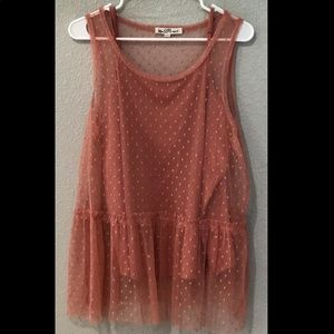Women's Plus Lace Blouse with Cami Size 2X
